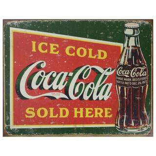 Vintage Metal Art 'Coca-cola' Decorative Tin Sign