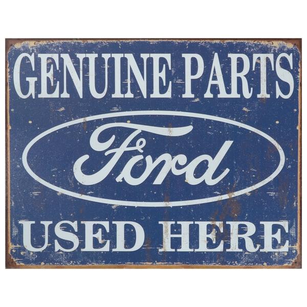 Vintage Metal Art 'Ford' Decorative Tin Sign