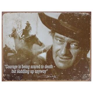 Vintage Metal Art 'John Wayne' Decorative Tin Sign