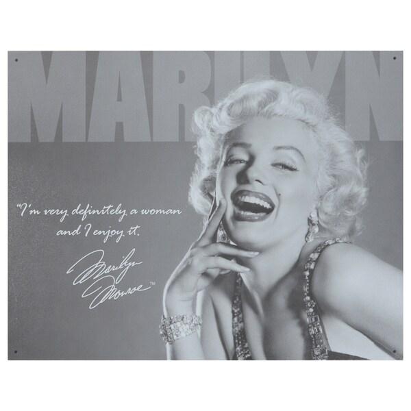 Vintage Metal Art 'Marilyn Monroe' Decorative Tin Sign