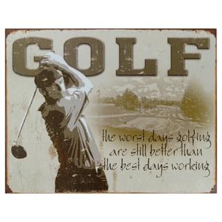 Vintage Metal Art 'Golf' Decorative Tin Sign