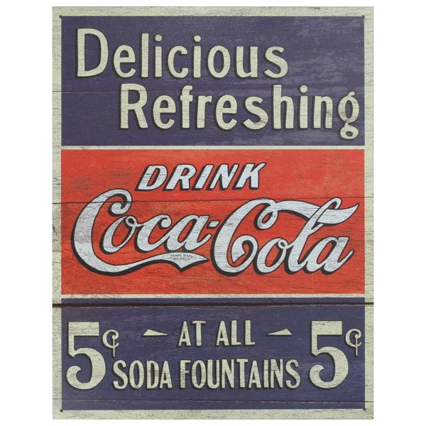 Vintage Metal Art 'Coca-Cola' Decorative Tin Sign