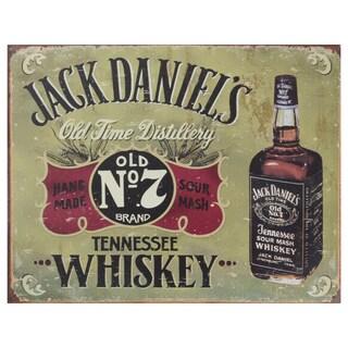 Vintage Metal Art 'Jack Daniels' Decorative Tin Sign