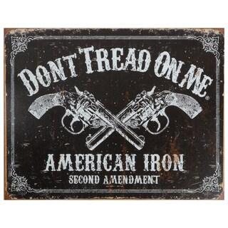 Vintage Metal Art 'Don't Tread on Me' Decorative Tin Sign