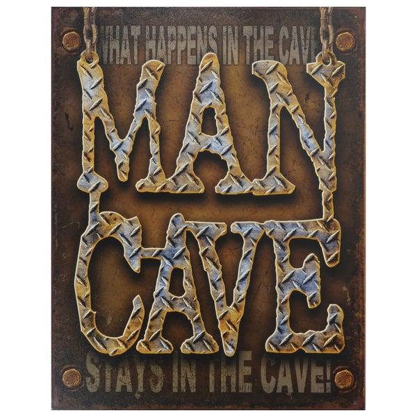 Vintage Metal Art 'Man Cave' Decorative Tin Sign