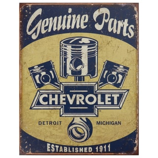 Vintage Metal Art 'Chevrolet' Decorative Tin Sign