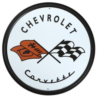 Vintage Metal Art 'Corvette' Decorative Tin Sign