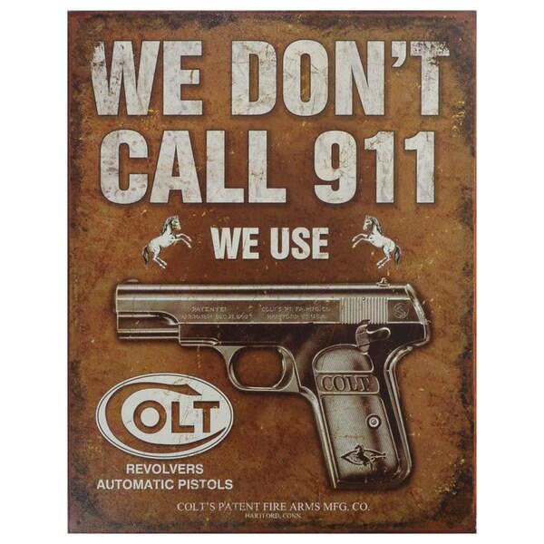 Vintage Metal Art 'Colt' Decorative Tin Sign