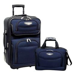 Traveler's Choice Amsterdam 2-Piece Carry-On Luggage Set Navy
