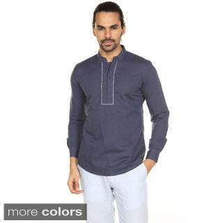 In-Sattva Anita Dongre Men's Embellished Madarin Collar Pullover Tunic (India)