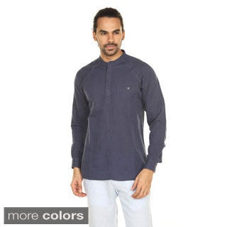 In-Sattva Anita Dongre Men's Pullover Mandarin Collar Tunic (India)