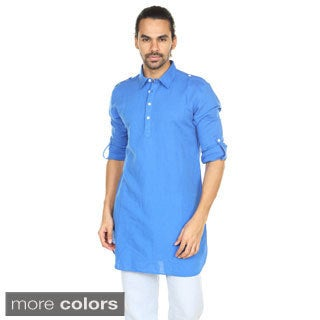 In-Sattva Anita Dongre Men's Long Mandarin Collar Pullover Kurta Tunic (India)