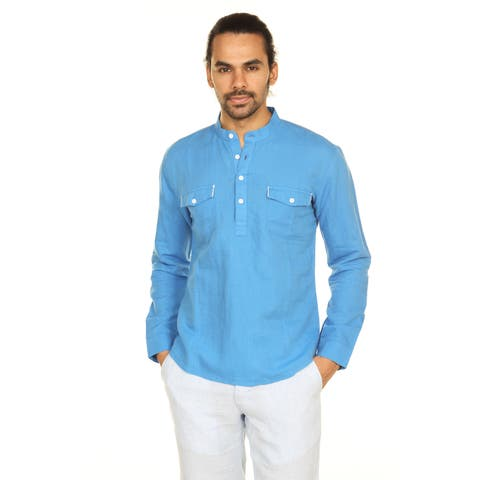 edadfdaa97 Handmade In-Sattva Anita Dongre Men s Mandarin Collar Pullover Tunic (India)