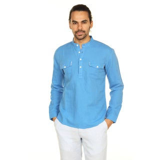 Handmade In-Sattva Anita Dongre Men's Mandarin Collar Pullover Tunic (India)