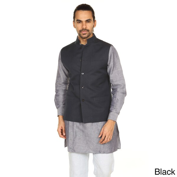 Handmade In-Sattva Anita Dongre Mens Button Down Vest (India)