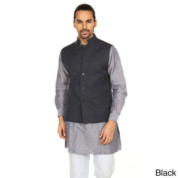 Shop Handmade In-Sattva Anita Dongre Men's Button Down Vest (India