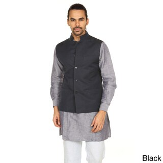 Handmade In-Sattva Anita Dongre Men's Button Down Vest (India) (2 options available)