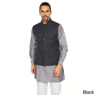Handmade In-Sattva Anita Dongre Men's Button Down Vest (India)