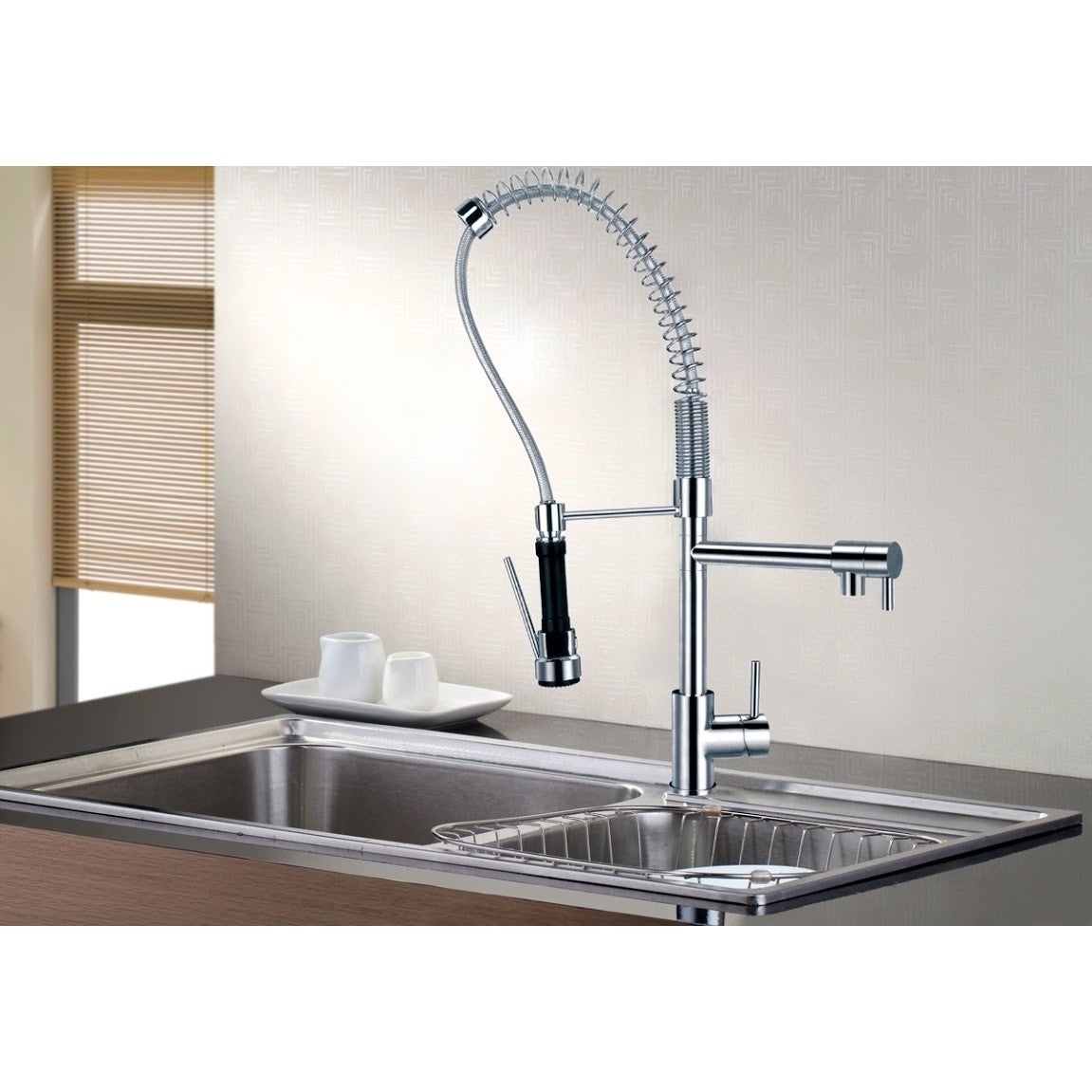 Sumerain Pre Rinse High Arc Kitchen Faucet And Pot Filler