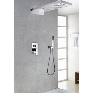 Sumerain Waterfall Shower System, Model S2098CS - Silver