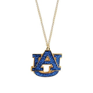 NCAA Auburn Tigers Logo Glitter Necklace