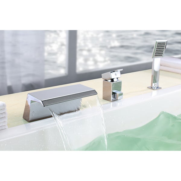 Sumerain Chrome Waterfall Bathtub Faucet - Free Shipping Today ...