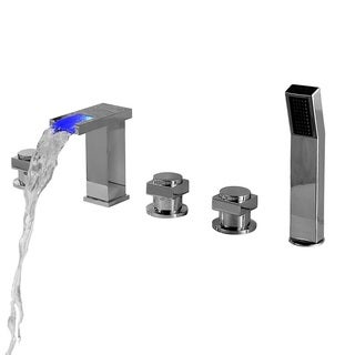 Sumerain LED Thermal Waterfall Bathtub Faucet