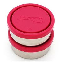 Kids Konserve Round Small Containers in Magenta (Set of 2)