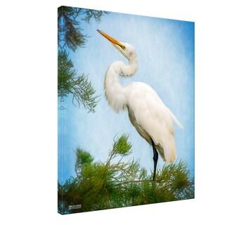 Bruce Bain 'Egret 2' Canvas Wall Art