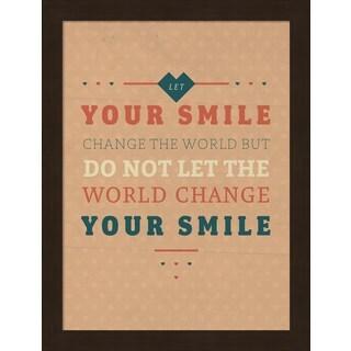 American Flat 'Smile' Framed Art