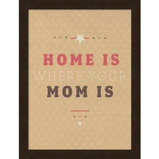 American Flat 'Home is Mom' Framed Art