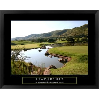 Handmade 'Leadership-Golf' Framed Art
