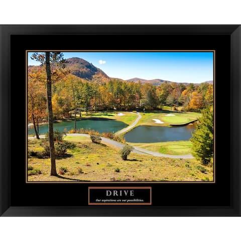 Handmade 'Drive-Golf' Framed Art