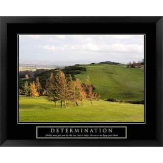 Handmade 'Determination-Golf' Framed Art