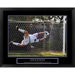 Handmade 'Success - Soccer' Framed Art