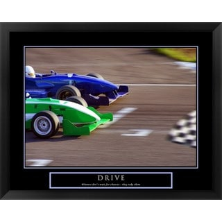 Bill Hall 'Drive-Race Car' Framed Art