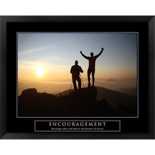 Handmade 'Encouragement - Climbers' Framed Art