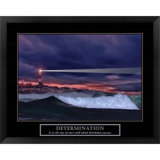 Handmade 'Determination-Lighthouse' Framed Art