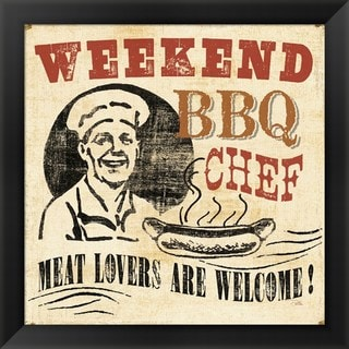 Pela Studio 'Weekend BBQ Chef' Framed Art