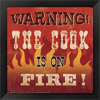 Pela Studio 'The Cook is on Fire' Framed Art