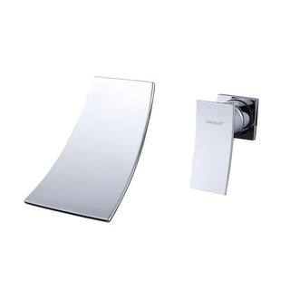 Sumerain In-wall Chrome Waterfall Vessel Sink Faucet