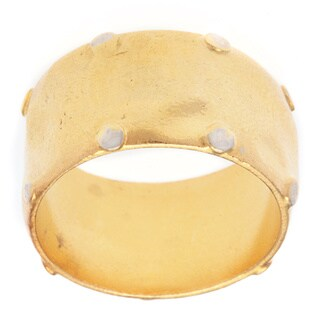 Ionia Two-tone Rivet-studded Ring
