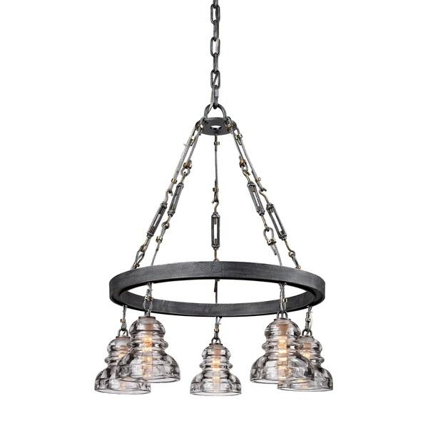 troy lighting menlo park 5 light pendant free shipping