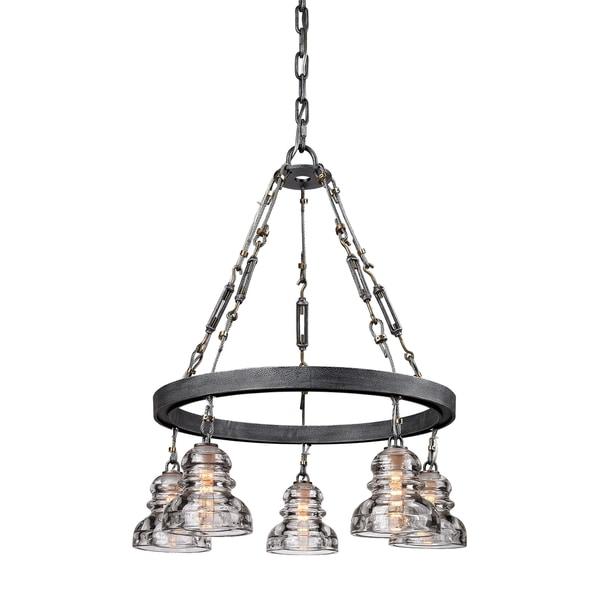troy lighting menlo park 5 light pendant free shipping today. Black Bedroom Furniture Sets. Home Design Ideas