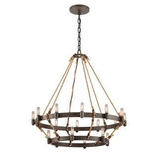 Troy Lighting Pike Place 2-tier 18-light Pendant