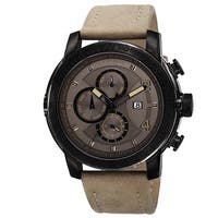 Akribos XXIV Men's Swiss Quartz Tachymeter Leather Strap Watch
