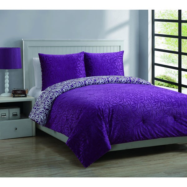 Forever Young Juvy Moire Reversible 3-piece Comforter Set