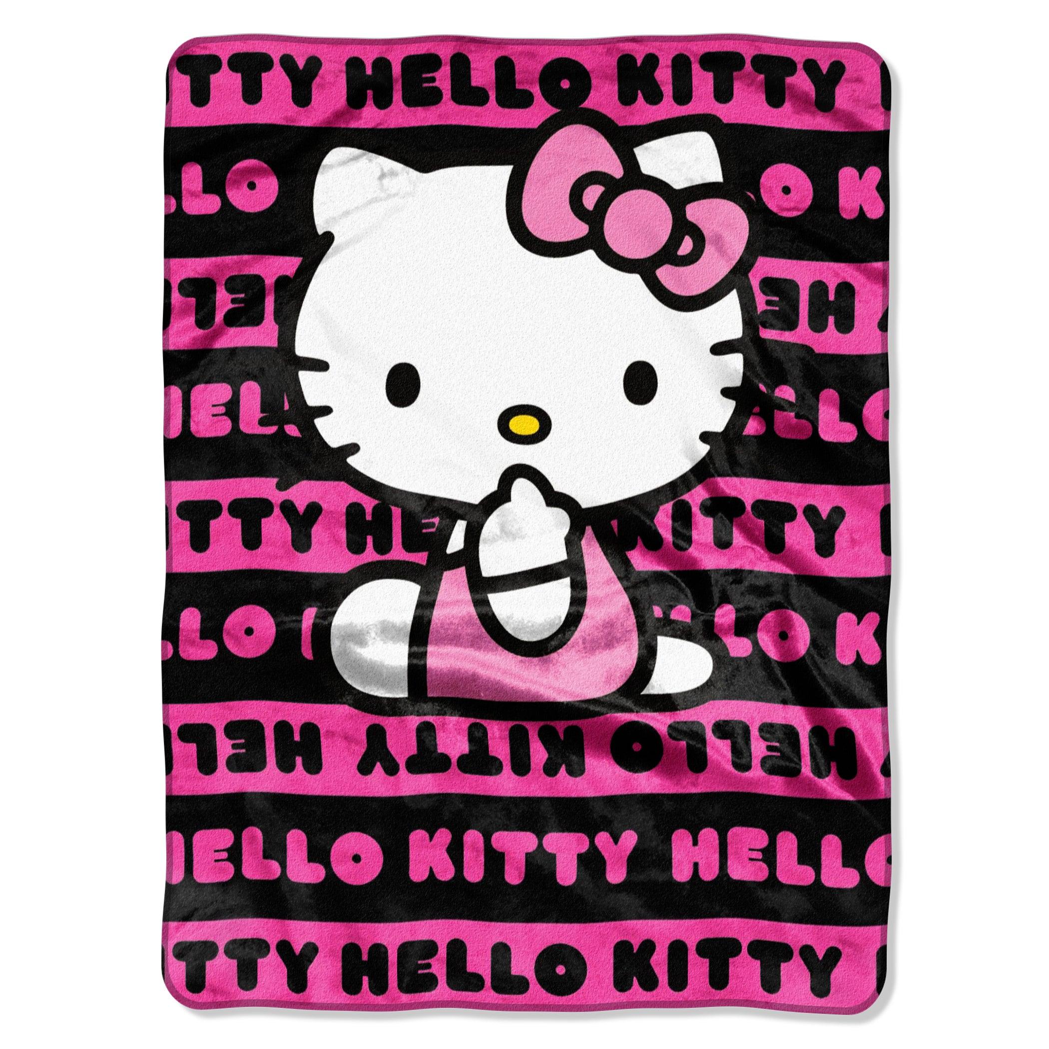 Northwest Company Hello Kitty Pink Royal Plush Raschel Th...