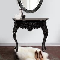 Black Baroque Accent Table