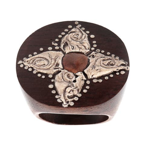 Hand-painted Wooden Ring